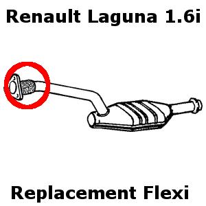 RENAULT LAGUNA 1.6I 1999-2001 Échappement remplacement