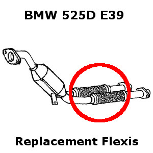 BMW 525 2.5D E39 1999-2003 Clamp On Exhaust Replacement