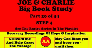 AA Speakers Joe McQ. and Charlie P. - Their Famous Alcoholics Anonymous Big Book Study #20 of 34