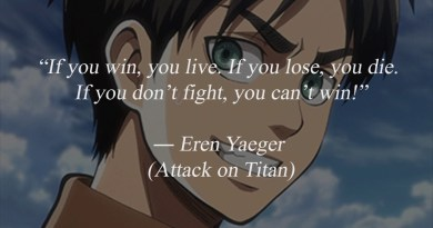 Top 10 Best Anime Quotes With images and Motivational