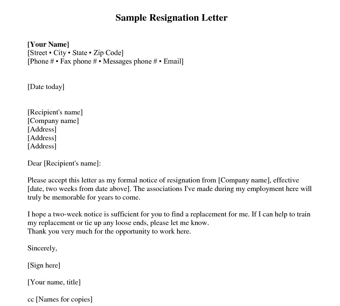 Sample Of Resignation Letter From Job Get Best Resignation Letter Sample With Rreason Every Last
