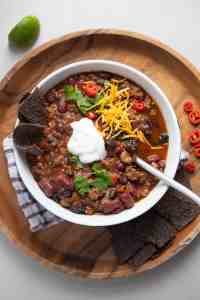 Warm comforting beef chili. A family favorite!