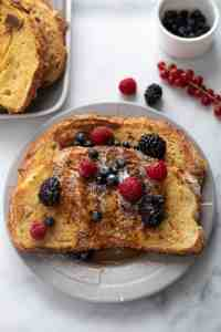 Sourdough French Toast with Berries and Maple Syrup