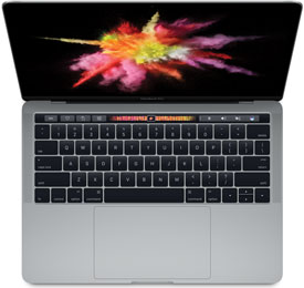 Apple MacBook Pro Retina 13-Inch Late 2016 (Touch Bar, 4 Thunderbolt 3 Ports)