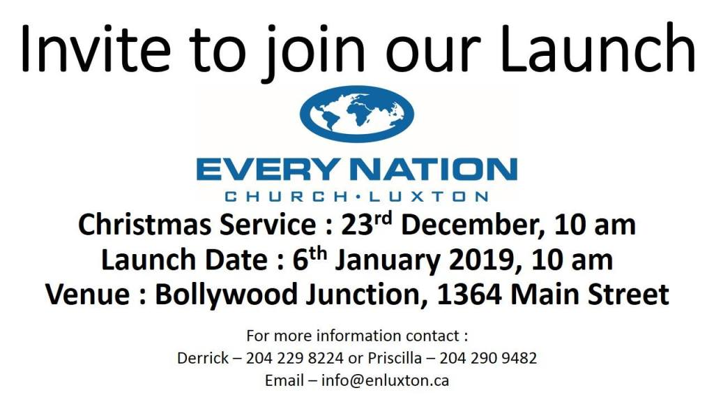 Invite to join our launch