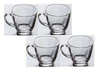 Amazon India : Frabjous Semi Wall Crystal Clear Glass Tea Mugs- Set of 4 at Rs.390