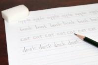 英単語を反復して書く