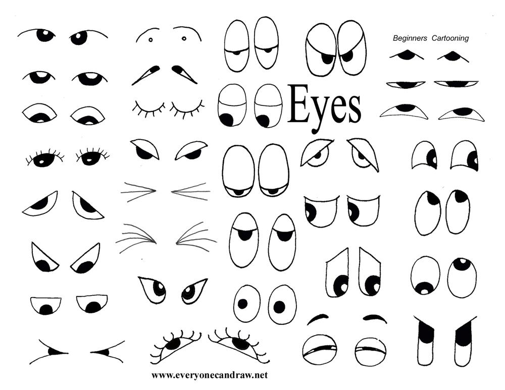 uu27itu: how to draw cartoons eyes