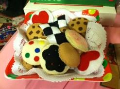 xmas felt cookies