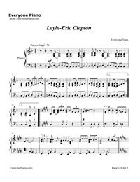 Layla Piano Exit Sheet Music : layla, piano, sheet, music, Layla-Eric, Clapton, Piano, Sheet, Music, Chords