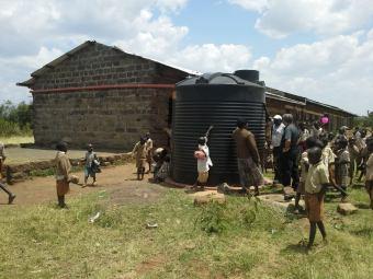 caring through a water tank