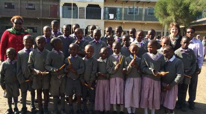 many children in the school yard