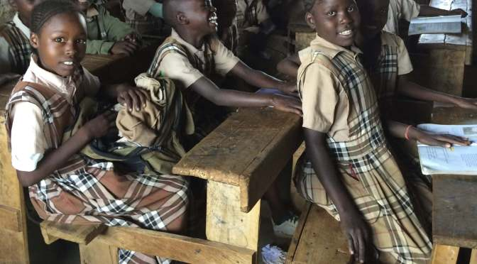 EC's Annual Appeal: girls at a primary school in Kenya