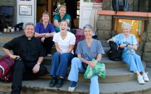 Our first Medical Clinic group (l-to r): Chris Ciccarelli, LPN; Lexie Pfister, RN; Carol Vassar MD; Nancy Hutson, RN. (back): Jill Ciccarelli MD; Jamie Worsley MD