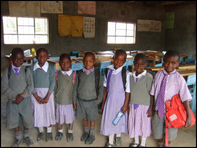 orphaned students at Lanet Umoja Primary School