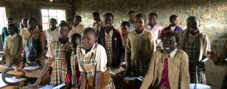 Standard 8 students at the Lord Ranjuera Primary School in Kampi Ya Moto