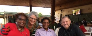 Sr. Shamima Thiongo, Sr. Bernadette Mastroni, Fr. Thomas Mugi and Fr. Paul Stewart