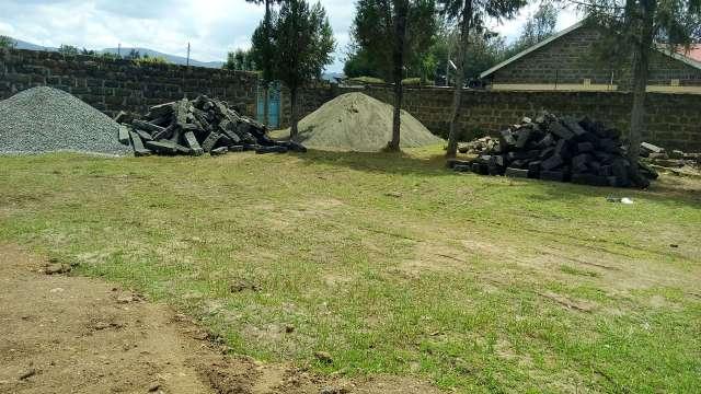 Building materials for Lanet Umoja Health Center