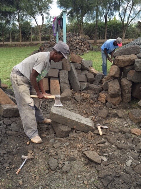 shaping rocks