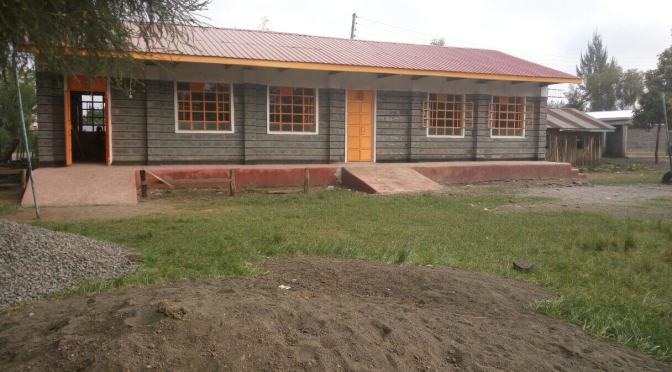 Two beautiful new preschool classrooms at Lanet Umoja in Kenya