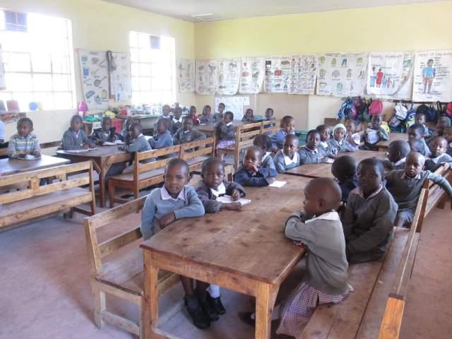 Kenyan children in a classroom
