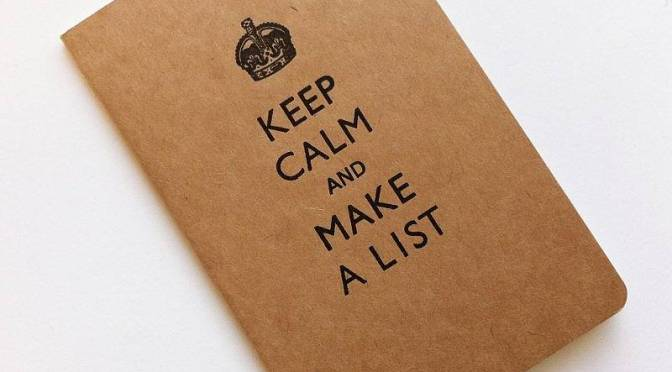 TO DO Lists – Preparation the American Way
