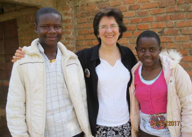 Ruth with John and Synthia, newly EC sponsored students in Rongo