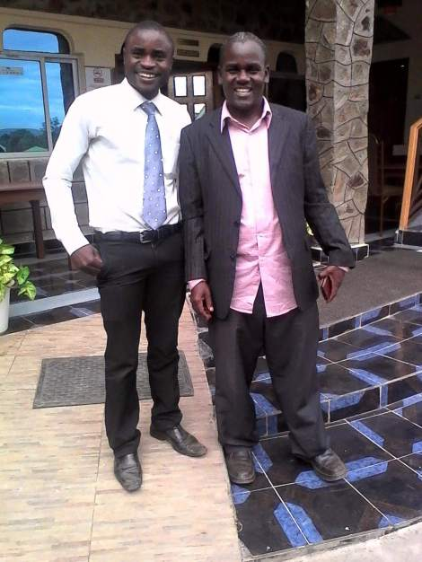 Simon Wanjala and William Aludo - dressed to educate!