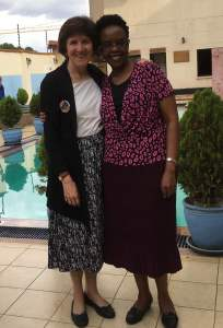 Ruth with Grace Wanjohi, author of 27 Things You must Do to Get and Keep Your Dream Job