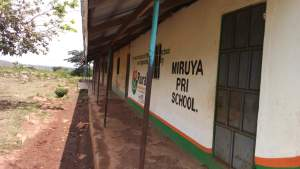 Outside wall of the Miruya Primary School