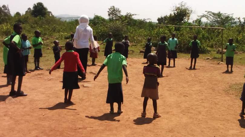 Children playing at the Miruya Primary School