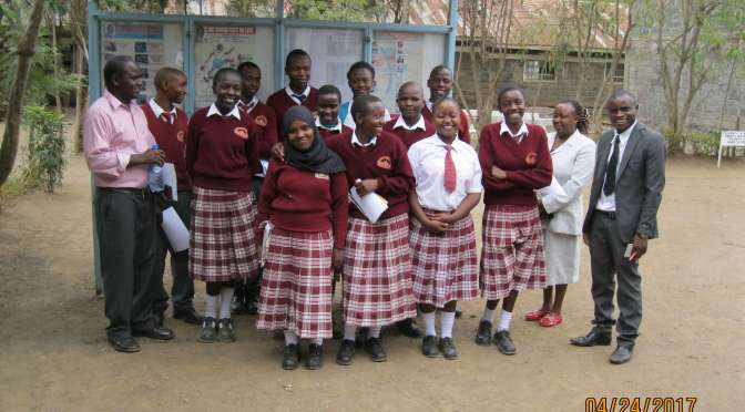 a group of 12 students in Kenya