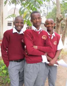 Mentoring students in Kenya