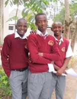 Mentoring students in Kenya