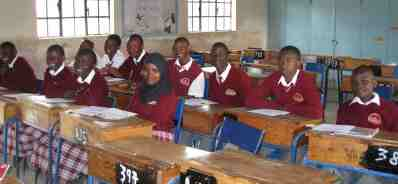 Kenyan students in a classroom