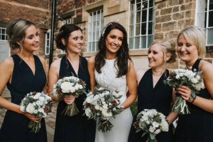 December Bride and Bridesmaids