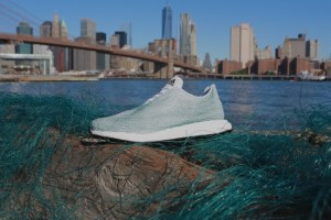 Adidas new shoe made from plastic waste sourced from the ocean.