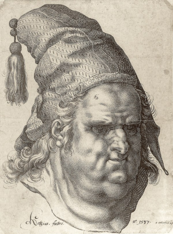 Epph Goltzius Man Wearing Tasseled Cap 1587