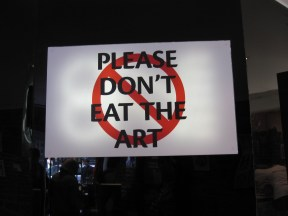 Don't eat sign