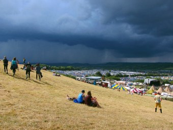 Speaking of which, this was the cloud that soaked Glastonbury on the Friday and brought proceedings to a temporary halt.