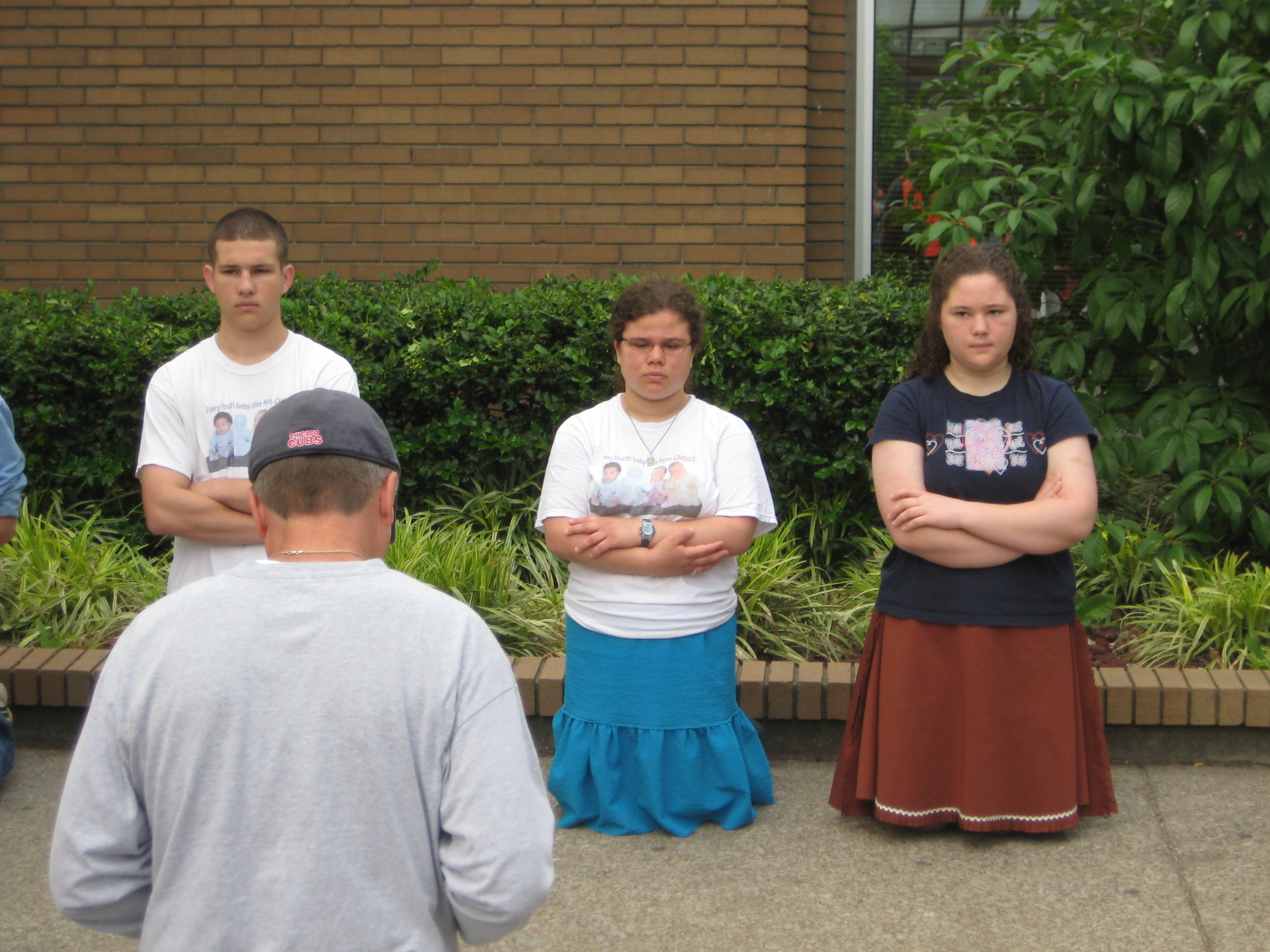 This group does NOT seem stoked to be praying for babies.