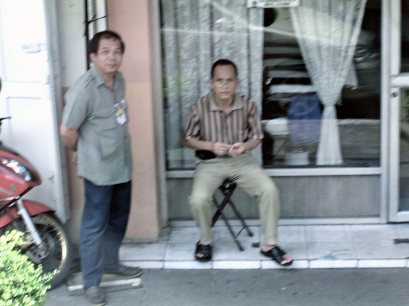 hanging out on the stoop in bangkok