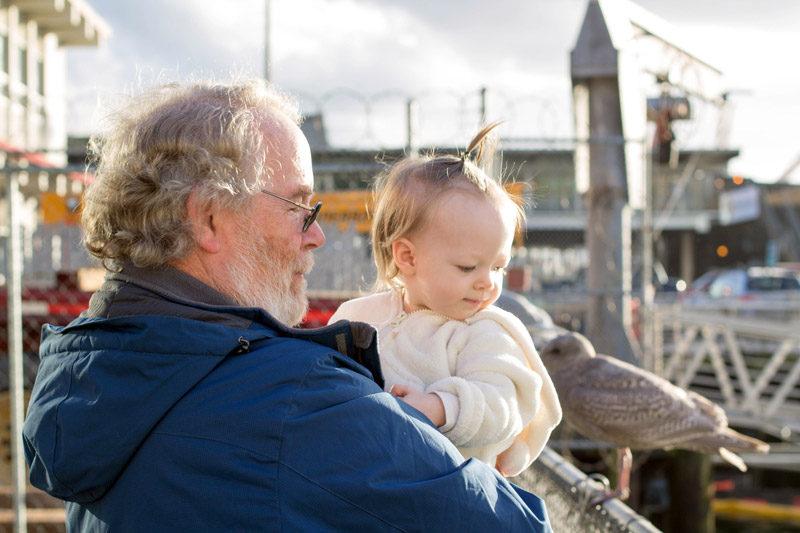 bryn + grandpa at ivar's seattle, washington