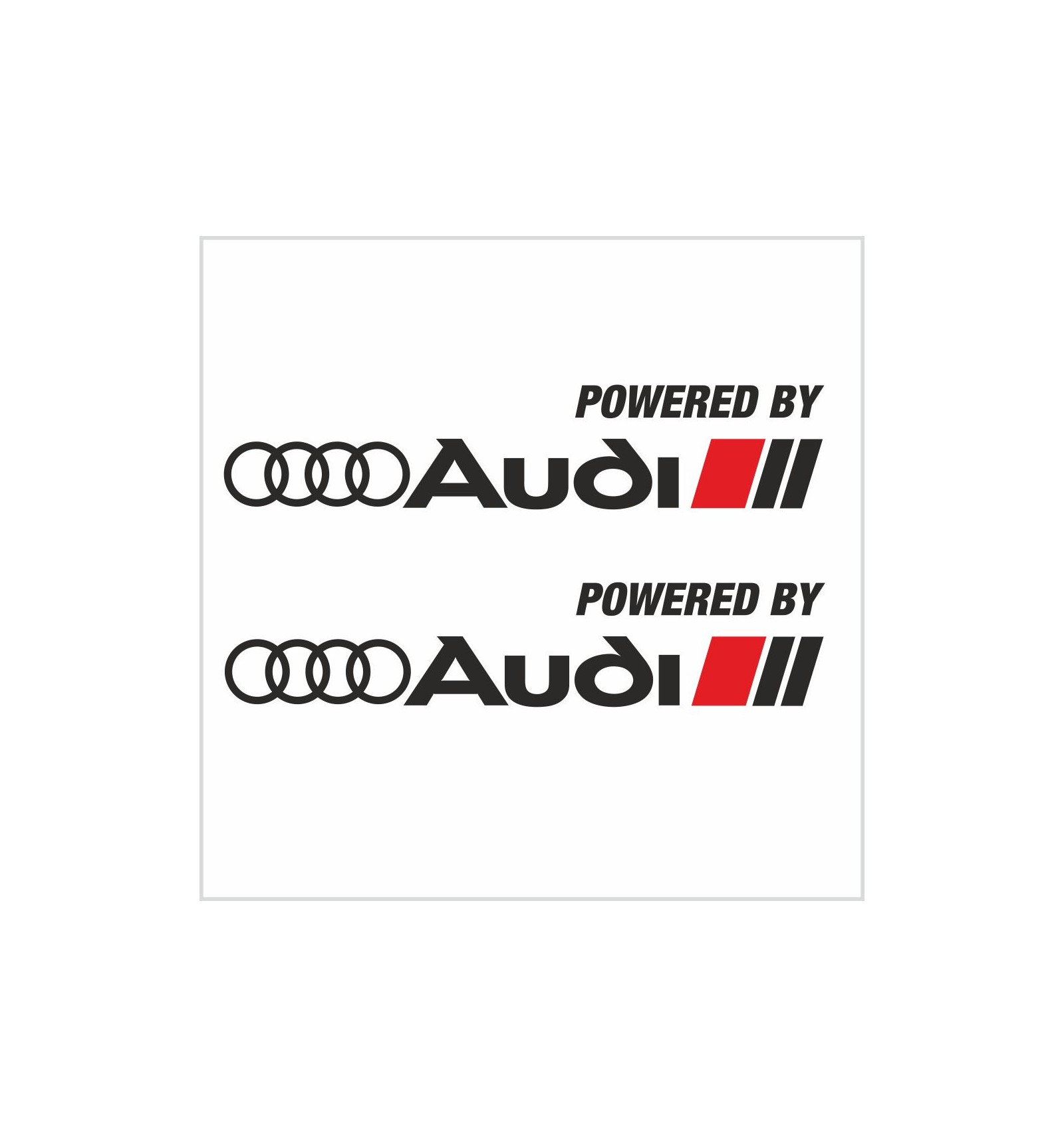 2pcs Powered By Audi Sport Decal Sticker M2