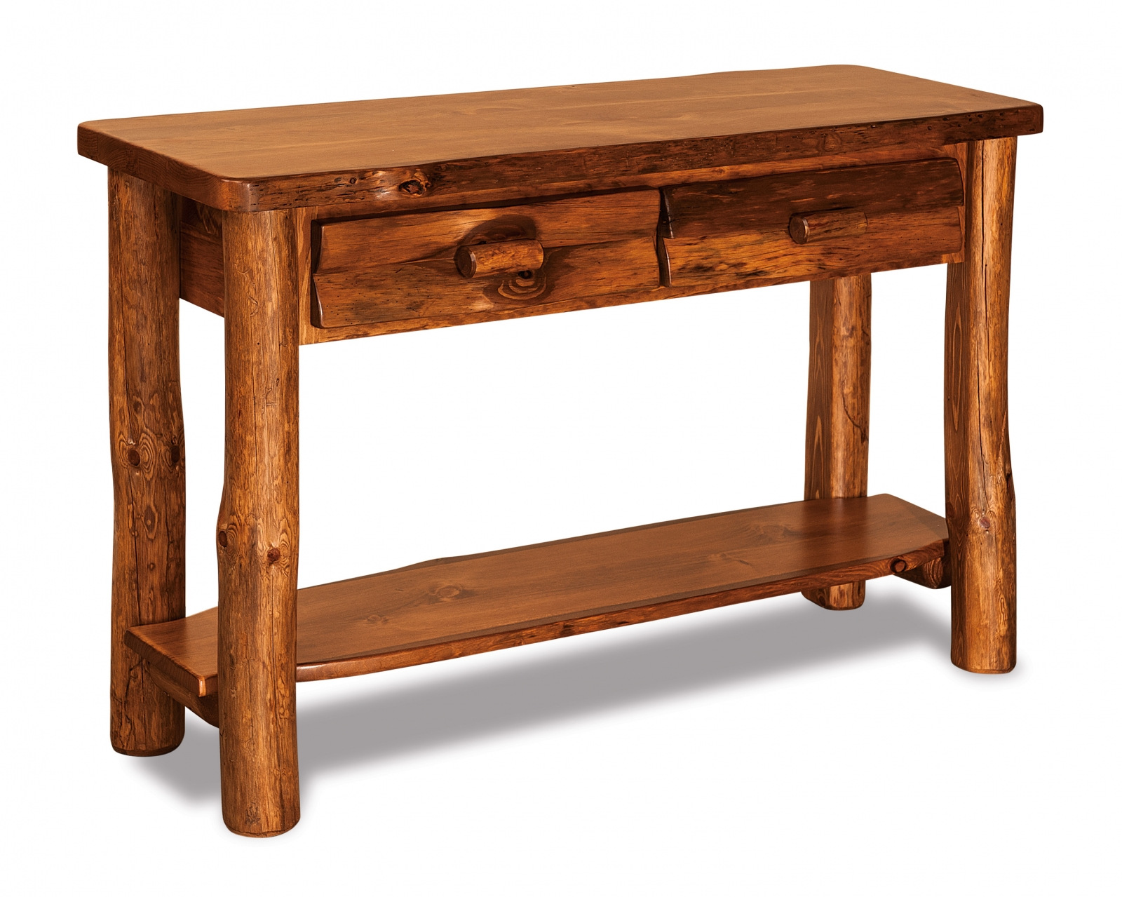 pine sofa tables remote control holder rustic table with drawer in sa stain
