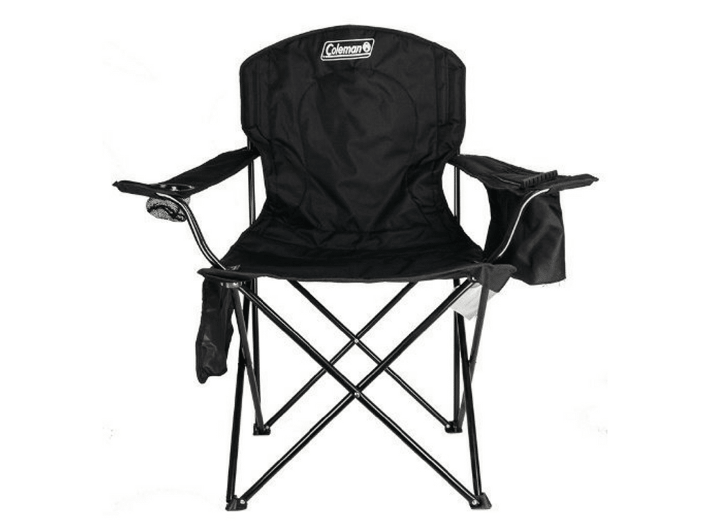coleman oversized quad chair with cooler pouch ikea rocking covers review