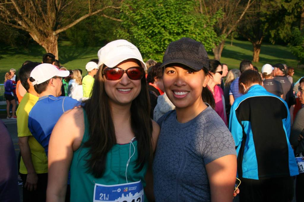 Nafeesa and I at the start line - photo by Carmen Marin