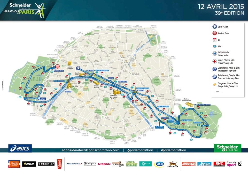 Schneider Electric Paris Marathon Course Map