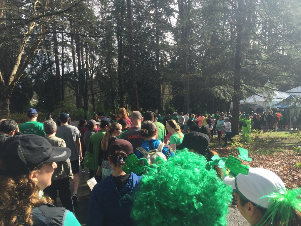 Lineup to the Food Tent at BMO St. Patrick's Day 5k 2016