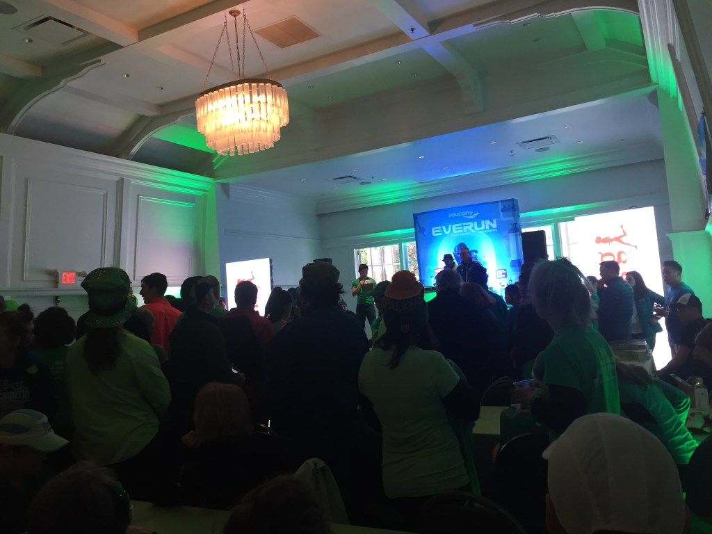 Inside the Pavilion at the BMO St. Patrick's Day 5k